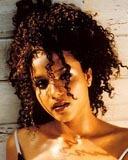 Sydney Tamiia Poitier - Brunette, 3c, Celebrities, Medium hair styles, Female, Curly hair Hairstyle Picture