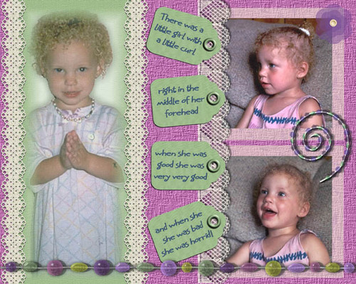 There was a little girl . . . - Blonde, 3b, 3c, Short hair styles, Kids hair, Readers, Curly hair Hairstyle Picture