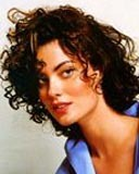 Shalom Harlow - Brunette, 3a, Celebrities, Medium hair styles, Female, Curly hair Hairstyle Picture