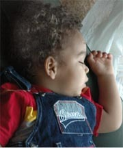 Sleeping Curly Boy - Brunette, 3b, Very short hair styles, Kids hair, Readers, Curly hair Hairstyle Picture