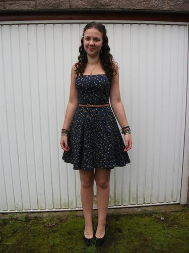Just off to prom - Brunette, Female, Teen hair, Prom hairstyles Hairstyle Picture