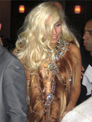 Lady Gaga - Blonde, Celebrities, Long hair styles, Female, Curly hair, Adult hair Hairstyle Picture