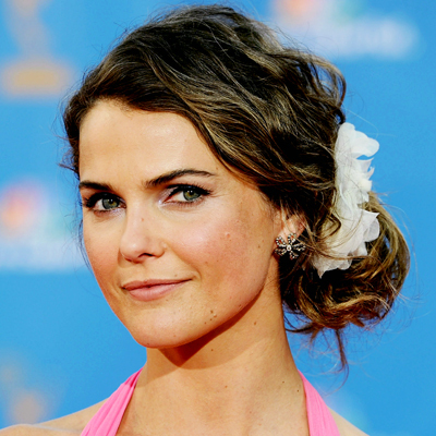 Keri Russell - Brunette, Celebrities, Wavy hair, Updos, Long hair styles, Female, Buns Hairstyle Picture