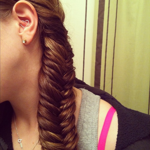 First attempt at a fishtail brai - Readers Hairstyle Picture