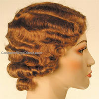 Old-fashioned Finger Waves - Redhead, Short hair styles, Styles, Female, Curly hair, Adult hair, Finger waves Hairstyle Picture