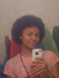 My First Afro(: Yay haha xD  - Redhead, Brunette, 4b, Short hair styles, Medium hair styles, Kinky hair, Afro, Readers, Female, Teen hair, Makeovers Hairstyle Picture