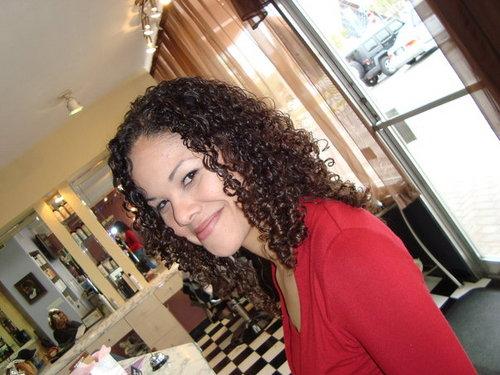 Sporting my NEW Ouidad Haircut b - Brunette, 3b, 3c, Medium hair styles, Long hair styles, Readers, Female, Curly hair, Adult hair Hairstyle Picture
