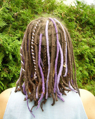 Silky Dreads - Brunette, Medium hair styles, Female, Adult hair, Hair extensions, Dreadlocks, Dreadlock extensions, Silky dreads Hairstyle Picture