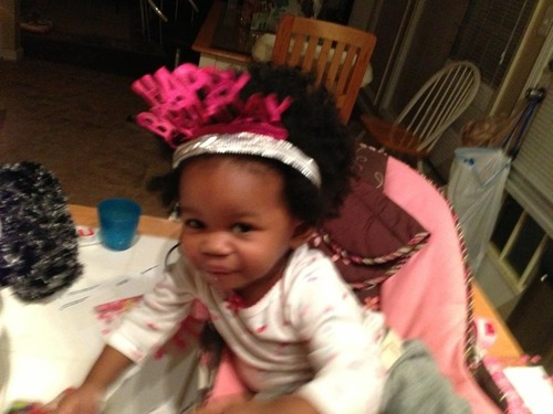 Natural 1st Birthday Pic - 2b, Medium hair styles, Kids hair, Afro, Female, Black hair, Formal hairstyles Hairstyle Picture