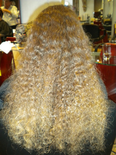 PjBefore Keratin - Blonde, 3b, 3c, Long hair styles, Readers, Female, Curly hair, Makeovers, Adult hair Hairstyle Picture