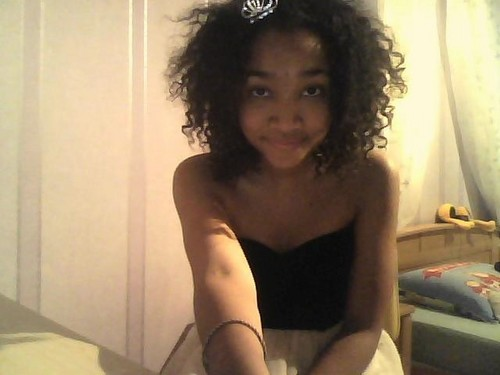 Curls: Ready for prom? - Medium hair styles, Female, Curly hair, Teen hair, Black hair, Adult hair Hairstyle Picture