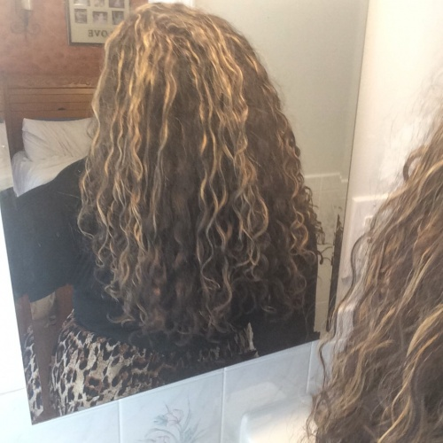 My new highlights with my curls ???? - Brunette, Blonde, 3b, 3a, Readers, Female, Curly hair, Teen hair, Makeovers, Black hair Hairstyle Picture