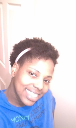 My natural pulled back - Short hair styles, Female, Black hair, 4c Hairstyle Picture