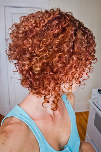 Stacked spiral curls (My fav - Redhead, Short hair styles, Medium hair styles, Female, Curly hair, Adult hair, Spiral curls Hairstyle Picture