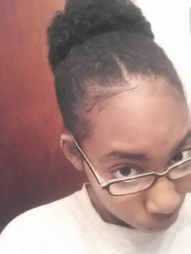 Pony Tail - 4b, Medium hair styles, Readers, Female, Black hair, 4c Hairstyle Picture