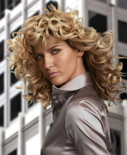 Redken - Blonde, 3a, Medium hair styles, Styles, Female, Curly hair, 2c Hairstyle Picture