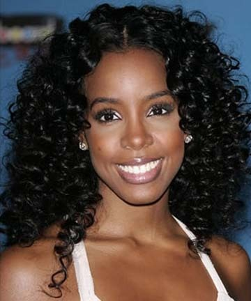 Kelly Rowland - Brunette, Celebrities, Long hair styles, Female, Curly hair, Black hair, Adult hair Hairstyle Picture