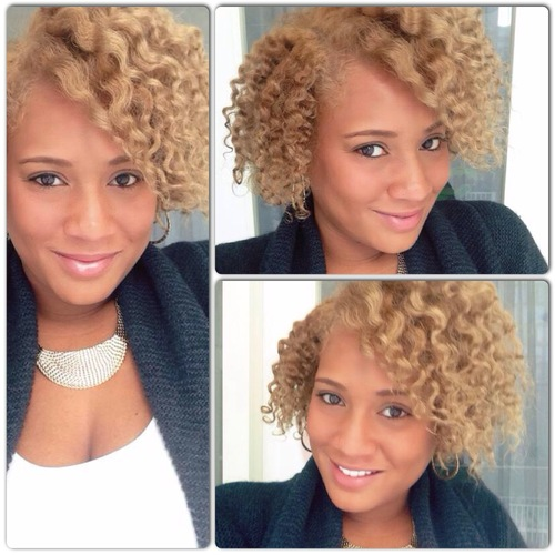 Blonde braid out - Blonde, 3c, 4a, Short hair styles, Readers, Female, Adult hair, Braid out Hairstyle Picture