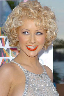 Pin curls - Blonde, Short hair styles, Styles, Female, Curly hair, Adult hair, Finger waves, Pin curls Hairstyle Picture