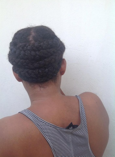 Braided updo - 3c, 4a, Readers Hairstyle Picture