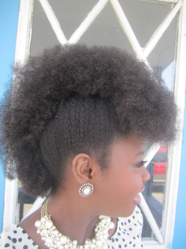 Frolicious Frohawk - Brunette, 4a, Male, Short hair styles, Medium hair styles, Kids hair, Kinky hair, Afro, Female, Teen hair, Black hair, Adult hair, Teeny weeny afro, Mohawk Hairstyle Picture