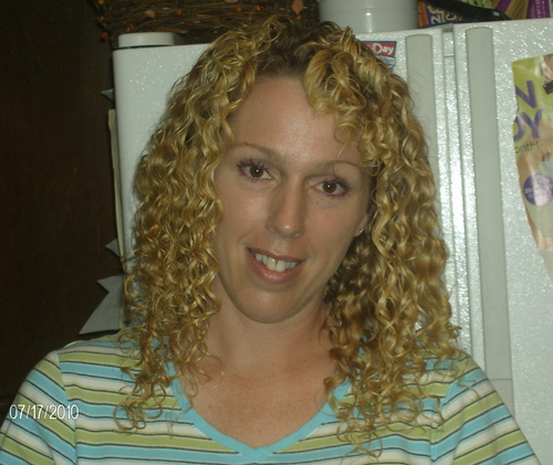 about 8 weeks cg - Blonde, 3b, Long hair styles, Readers, Female, Curly hair, Adult hair Hairstyle Picture