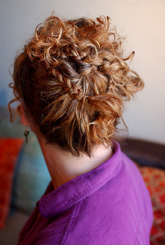 Finished Back View - Curly hair, Formal hairstyles Hairstyle Picture