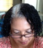 Dual Transitioning naturally curly and gray