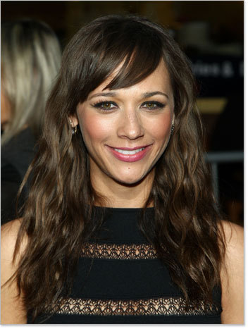 Rashida Jones - Brunette, Celebrities, Wavy hair, Long hair styles, Female, Curly hair, Layered hairstyles Hairstyle Picture