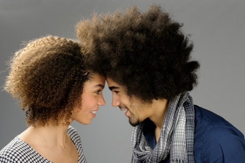 Two for Two - Brunette, 3c, Male, Medium hair styles, Styles, Female, Curly hair, Black hair, Curly kinky hair, 4c Hairstyle Picture