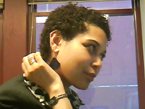 short pixi cut - 3c, 4a, Very short hair styles, Readers, Female, Curly hair, Curly kinky hair Hairstyle Picture