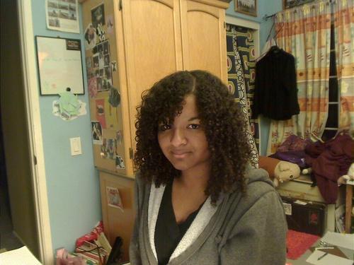 Perfect Curly Hair  - Brunette, 3c, 4a, Medium hair styles, Kinky hair, Long hair styles, Readers, Styles, Female, Curly hair, Teen hair, Black hair, Natural Hair Celebration Hairstyle Picture
