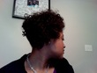 Bantu knot out updo