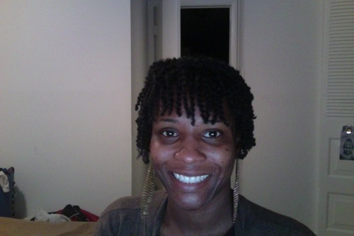 Go to wash and go.  - Short hair styles, Female, Makeovers, Black hair, Adult hair, Twist out, 4c Hairstyle Picture
