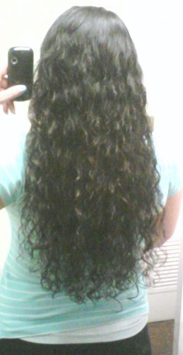 My long 3A curls - Brunette, 3a, Long hair styles, Female, Adult hair Hairstyle Picture