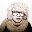 Curly Hair Style: Punk hair