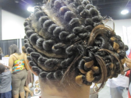 IMG_6899.JPG - Medium hair styles, Updos, Kinky hair, Twist hairstyles, Styles, Female, Black hair, Formal hairstyles, Knots, Buns, Curly kinky hair, Natural Hair Celebration, Textured Tales from the Street Hairstyle Picture