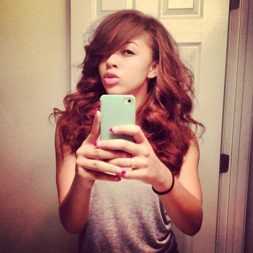 Alexis Jordan (Singer -  - Redhead Hairstyle Picture