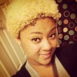 My curly blonde fro