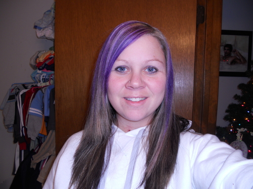 me purple straight  - Brunette, Blonde, Long hair styles, Female, Curly hair, Makeovers, Adult hair Hairstyle Picture