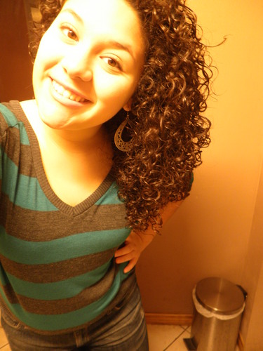 My hair :) - Brunette, 3c, Medium hair styles, Readers, Female, Curly hair, Teen hair, Spiral curls, Layered hairstyles Hairstyle Picture