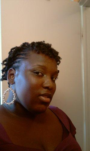 braid/twist - Brunette, 4b, Short hair styles, Kinky hair, Readers, Female, Black hair, Adult hair, Kinky twists Hairstyle Picture