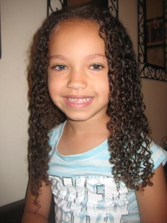 Naiya II - Brunette, 3c, Medium hair styles, Kids hair, Long hair styles, Readers, Female, Curly hair, Spiral curls Hairstyle Picture