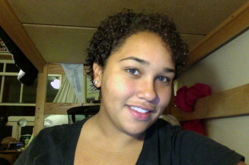 One Day after Big Chop - Brunette, 3c, Very short hair styles, Short hair styles, Readers, Female, Curly hair, Curly kinky hair Hairstyle Picture