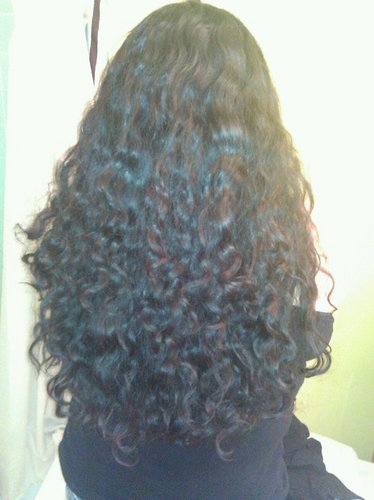 Long and curly! - Brunette, 3b, Long hair styles, Readers, Female, Curly hair, Black hair, Adult hair Hairstyle Picture
