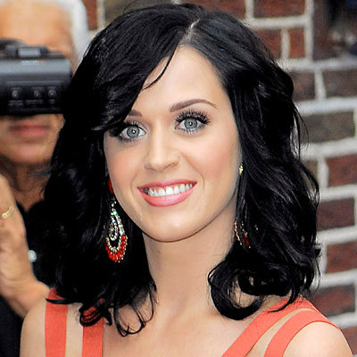 Katy Perry - Celebrities, Wavy hair, Medium hair styles, Female, Curly hair, Black hair Hairstyle Picture