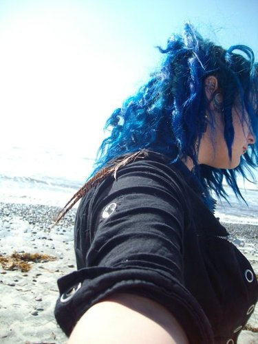 blue curls - 3a, Medium hair styles, Female, Adult hair Hairstyle Picture