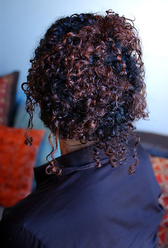Back View - Updos, Wedding hairstyles, Curly hair Hairstyle Picture
