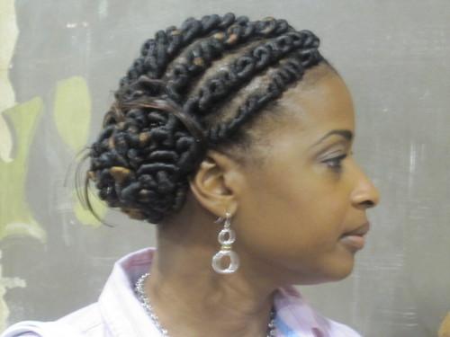 IMG_6901.JPG - Medium hair styles, Updos, Kinky hair, Twist hairstyles, Styles, Female, Black hair, Formal hairstyles, Knots, Curly kinky hair, Natural Hair Celebration, Textured Tales from the Street Hairstyle Picture