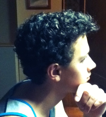 Curly-Haired Boys - Brunette, 3a, Male, Very short hair styles, Readers, Teen hair Hairstyle Picture